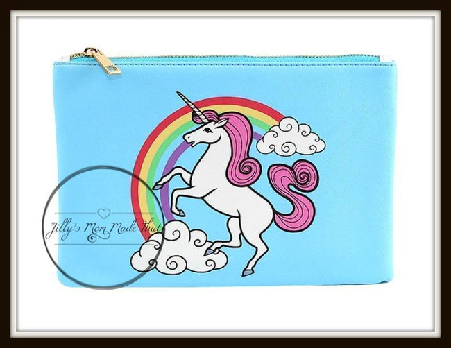 Unicorn Cosmetic Bag - Blue