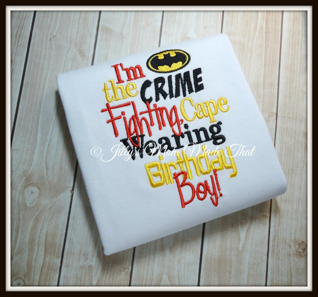 Crime Fighting Birthday Boy Shirt - Red & Black