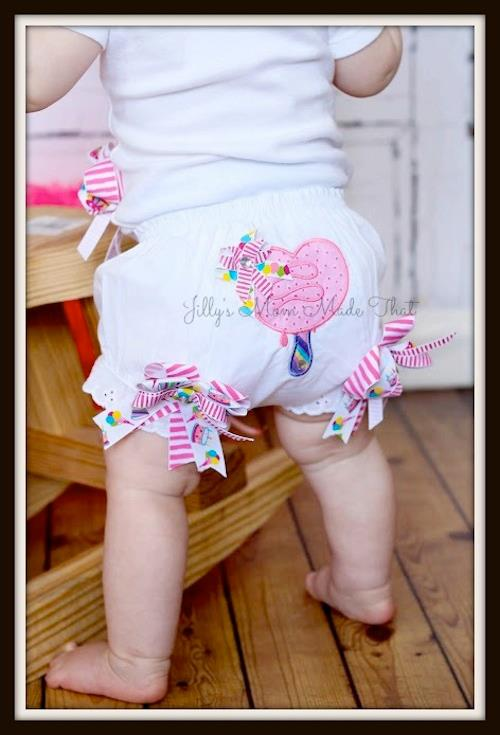 Ice Cream Heart Bloomers