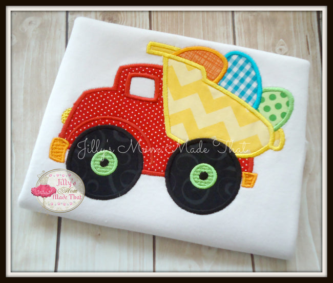 Dump Truck with Easter Eggs Shirt