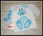 Floppy Ear 3D Bunny Shirt - White & Blue