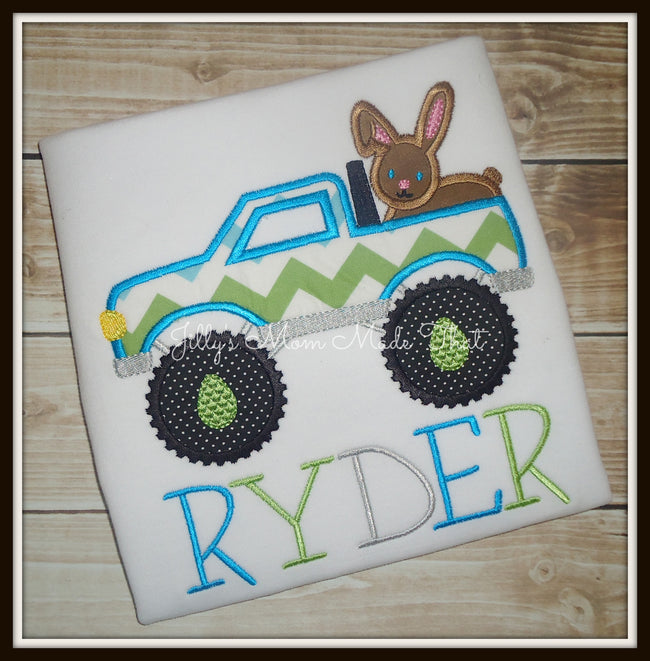 Monster Truck with Bunny Shirt