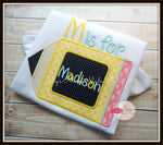 Back To School Yellow Pencil Shirt - Initial & Name