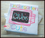 Crayon Cutie Shirt with Pink & White Zebra
