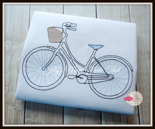 Whimsy Bicycle Sketch Shirt - Blue