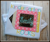 Back To School Pink Pencil Shirt - Name & Grade