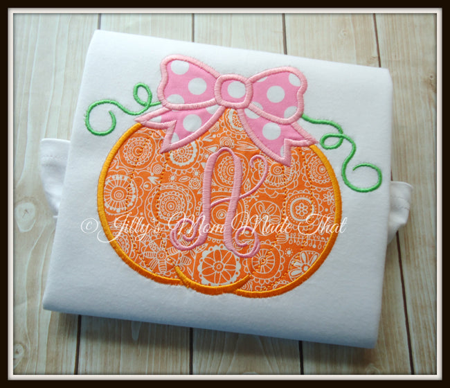 Pumpkin with Pink Bow Shirt