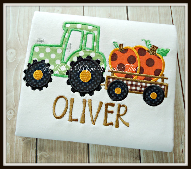 Tractor with Pumpkins Shirt