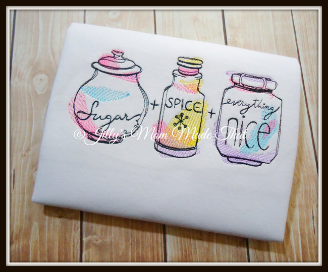 Sugar & Spice & Everything Nice Sketch Shirt