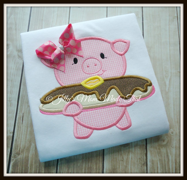Pig and Pancake Shirt - Pink/Pink
