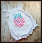 Easter Egg with Bow Bubble Romper