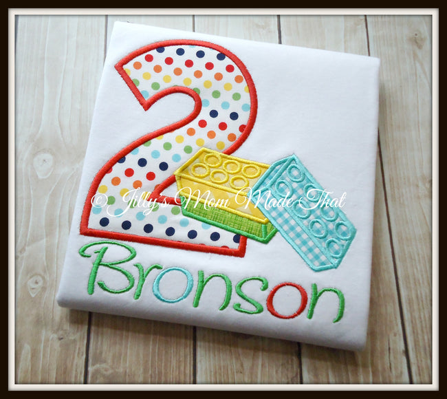 Building Block Birthday Shirt