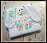 Floppy Ear 3D Bunny Shirt - Teal & Multi Dot
