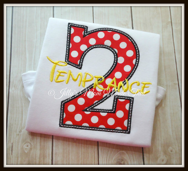 Minnie Mouse Dot Birthday Shirt