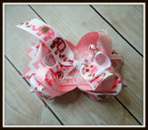 Mod Pink Elephants Hairbow