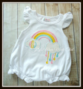 Rainbow Monogram Bubble Romper