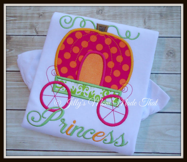 Pumpkin Carriage Shirt - Hot Pink/Lime Green
