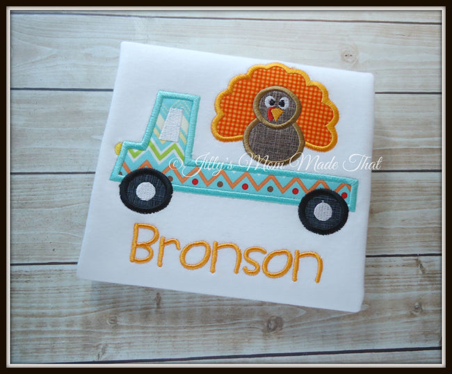 Flat Bed Truck with Turkey Shirt