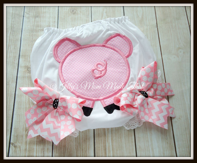 Pig Bottom Bloomers - Pink/Black