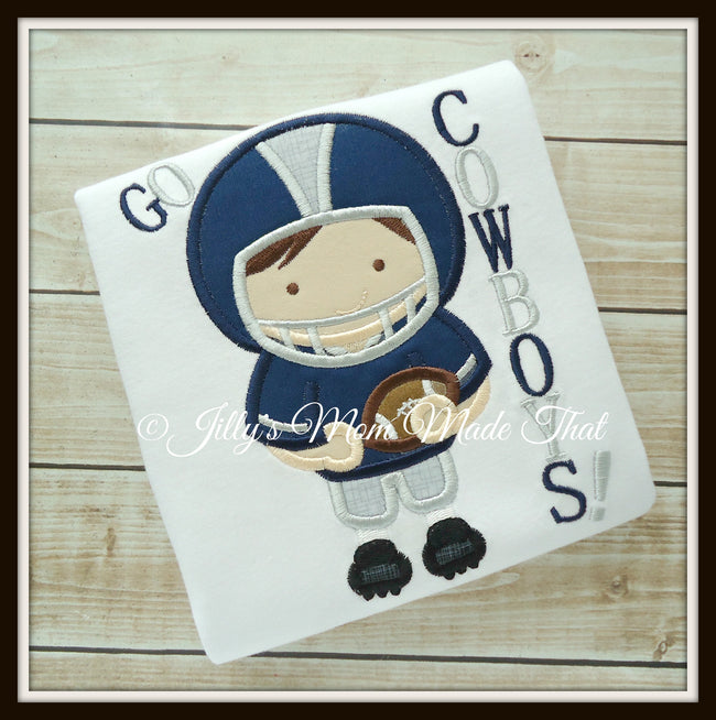 Football Player Shirt - Navy Blue & Grey