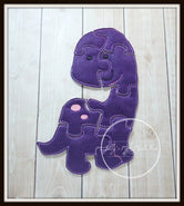 Purple Dinosaur Puzzle
