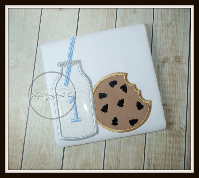 Milk & Cookie with Light Blue Straw Shirt