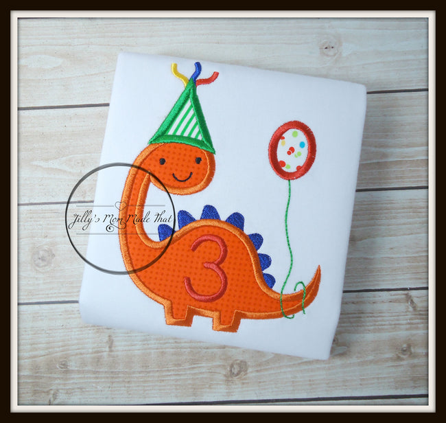 Birthday Dinosaur with Balloon Shirt