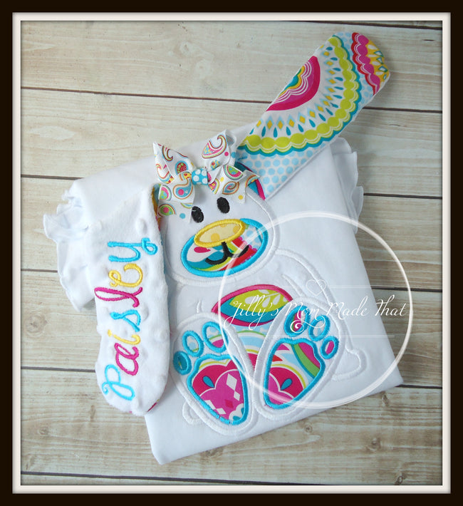 Floppy Ear 3D Bunny Shirt - Multi Color & Paisley