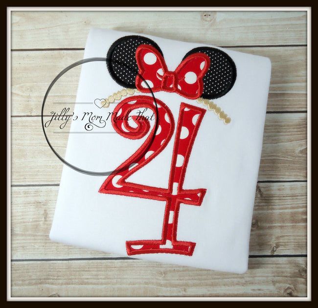 Minnie Mouse Ears Birthday Shirt