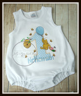 Pooh Bear Boys Bubble Romper