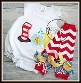 Cat in the Hat Trio Baby Outfit