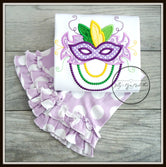 Mardi Gras Mask with Beads Outfit