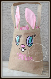 Pink Bunny Ear Easter Basket