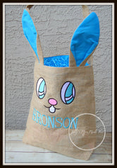 Blue Bunny Ear Easter Basket