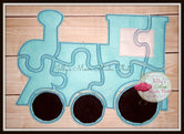 Light Blue Train Puzzle