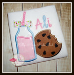 Strawberry Milk & Cookie Shirt w/ Swirly Bow