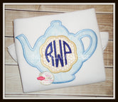 Tea Pot Monogram Shirt