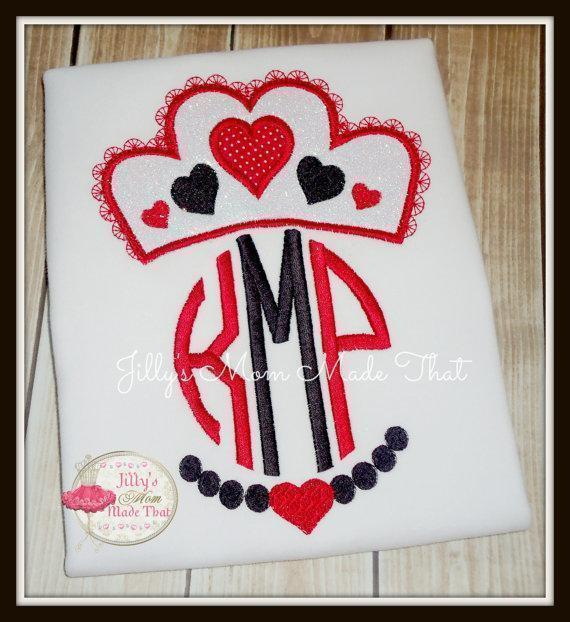 Queen of Hearts Monogram Shirt