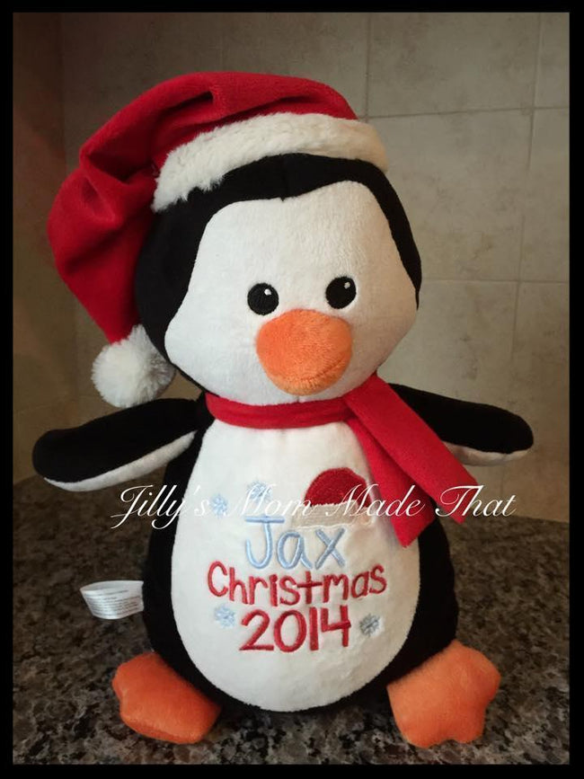 Christmas Penguin Stuffed Animal
