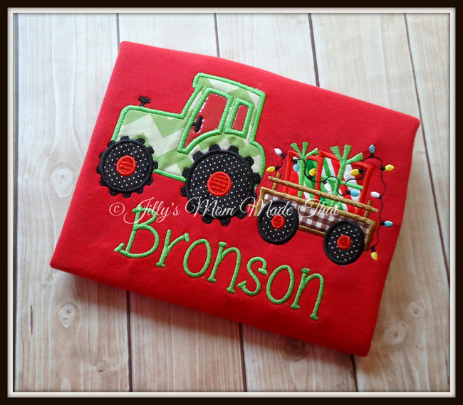Tractor with Christmas Presents Shirt