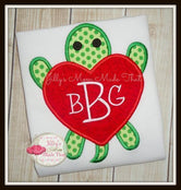 Turtle with Heart Shirt