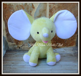 Yellow Stuffed Dumbo Elephant