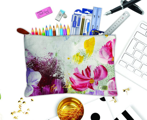 Canvas Pencil Stationary Zipper Pouches
