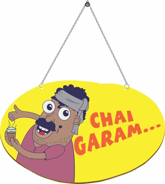 Chai Garam Door Hanging