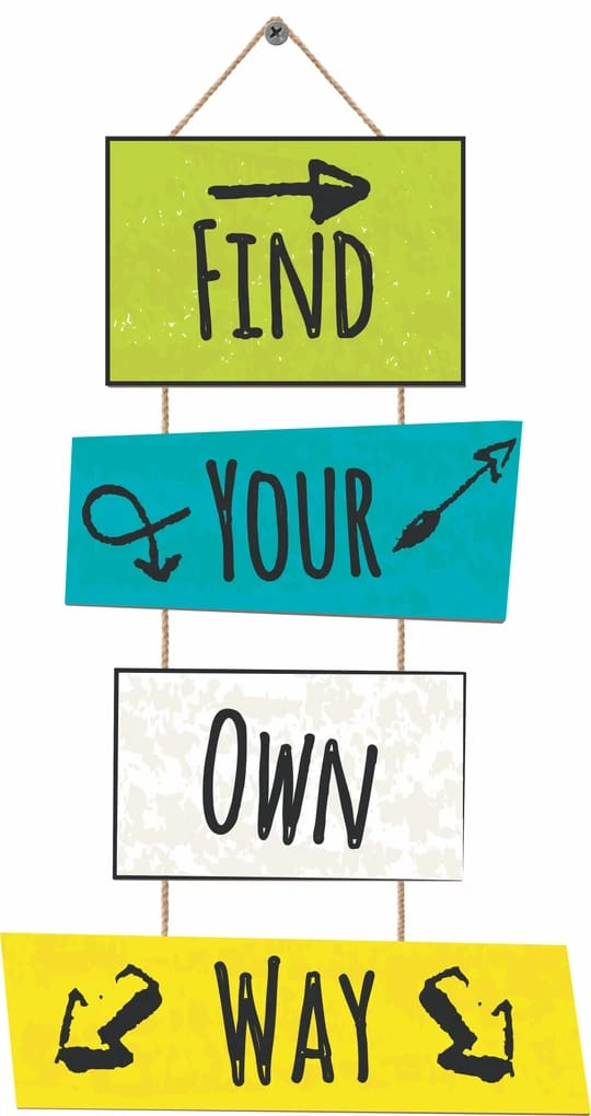 Find Your Own Way Hanging