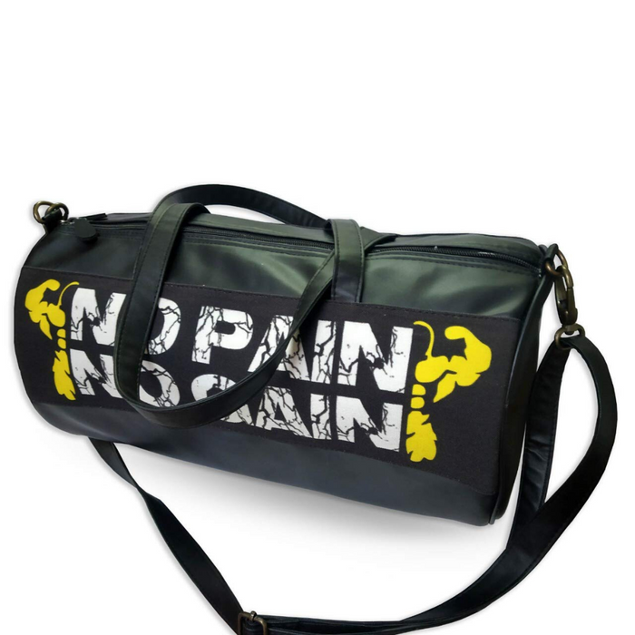 """No Pain No Gain"" Printed Duffle Bag for Gym-Gym Bag for Men and Women"
