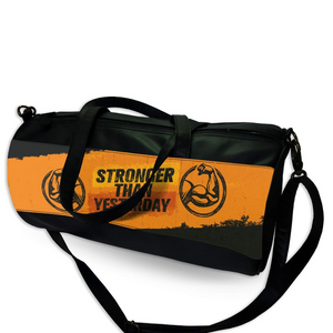 """Stronger Than Yesterday"" Printed Duffle Bag-Gym Bag for Men and Women"