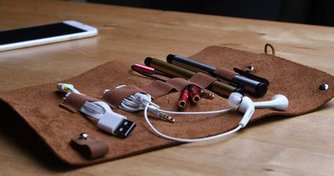 Leather organizer case