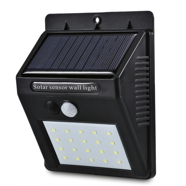 Solar Power PIR Motion Sensor Wall Light | TwineGadget