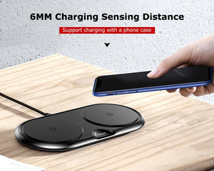 Wireless Charger with Dual Pad Silicone | TwineGadget